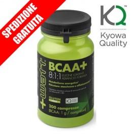 BCAA+ 8:1:1 kyowa 200cpr -aminoacidi ramificati purissimi ad alto dosaggio di leucina + vitamine del gruppo B-