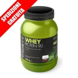 WHEY PROTEIN 90 750g -proteine del siero del latte isolate a rilascio rapido + vitamine-