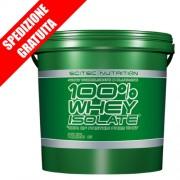 100% Whey isolate 4Kg -proteine del siero del latte isolate idrolizzate a rilascio rapido-