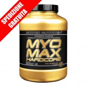 MYOMAX HARDCORE 3080gr -mass gainer professionale ad elevata percentuale proteica-